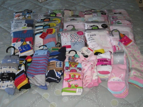 Photo of items donated for children at the Women's Refuge